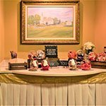 Cake, gift, or snack display table in our banquet hall