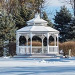 Wedding Ceremony at our gazebo all winter long