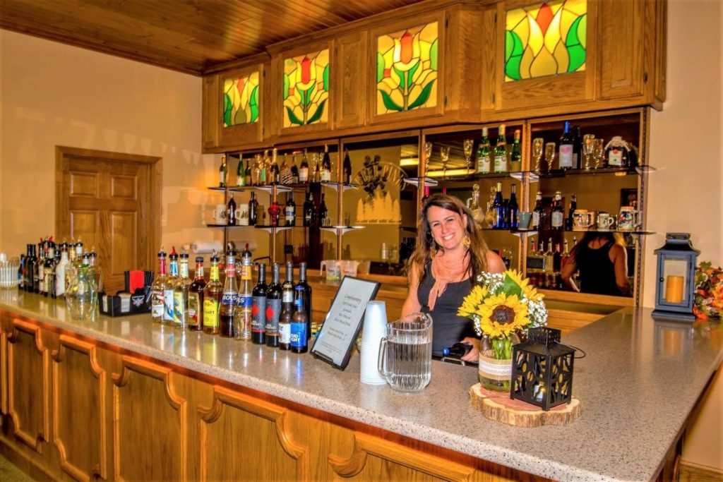 Our fully stocked bar is available in many different wedding packages.