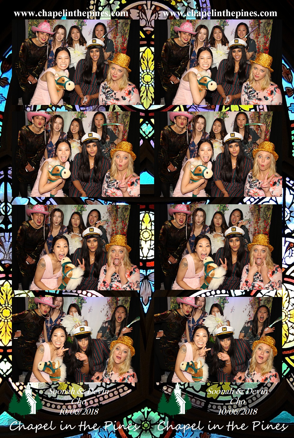 4 photo strips in each session. Enjoy each photo booth experience